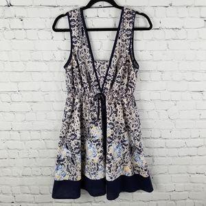 UMGEE   floral sleeveless elastic waist dress